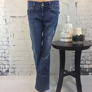 Hudson Bootcut Distressed Jeans